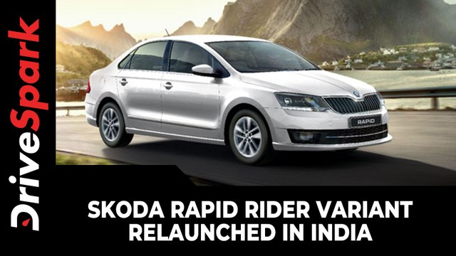 Skoda Rapid Rider Variant Relaunched In India | Prices, Specs, Features & Other Updates Explained