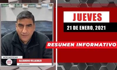 Resumen de noticias jueves 21 de enero  2021 / Panorama Informativo / 88.9 Noticias