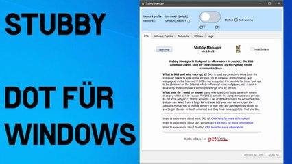 [TUT] Stubby - DNS over TLS für Windows [4K   DE]