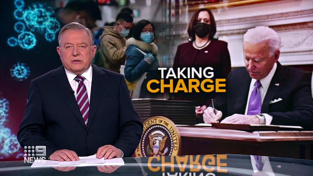 Coronavirus – Joe Biden promises to tackle coronavirus pandemic _ 9 News Australia