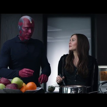 Wanda and Vision - -Is That Paprikash-- Kitchen Scene - Captain America- Civil War