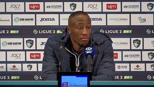 Après HAC - Guingamp (0-0), réactions de Fernand Mayembo