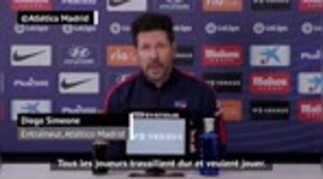 """20e j. - Simeone : """"La concurrence entre les joueurs est grande"""""""