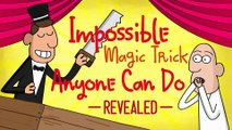 Impossible Magic Trick Anyone Can Do Revealed!!! | Cartoon Animation | 1min cartoon
