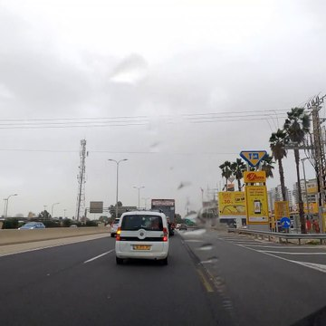 Driving from Netanya to Tel Aviv, Israel