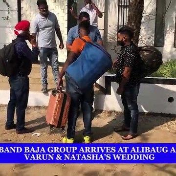 Dhol & Band Baja Group arrives at Alibaug ahead of Varun and Natasha's wedding