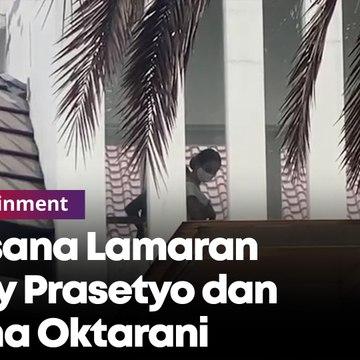 Suasana Lamaran Vicky Prasetyo dan Kalina Oktarani