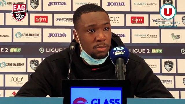 Le Havre-Guingamp (1-1) | Ligue 2 BKT - J21 : La réaction de Sikou Niakaté