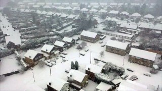 Drone footage shows Sutton Coldfield covered in snow