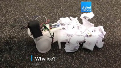 A Robot Made Of Ice
