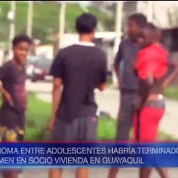 Pelea entre adolescentes terminó con uno de ellos muerto por un cuchillazo
