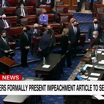 House managers deliver impeachment article to Senate