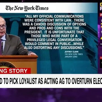 NYT Trump plotted to pick loyalist as acting AG to overturn election