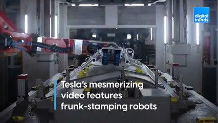 Tesla's mesmerizing video features frunk-stamping robots