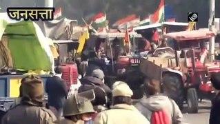 Kisan Tractor Rally Live: किसानों ने पुलिस वालों के पीछे दौड़ाए ट्रैक्टर