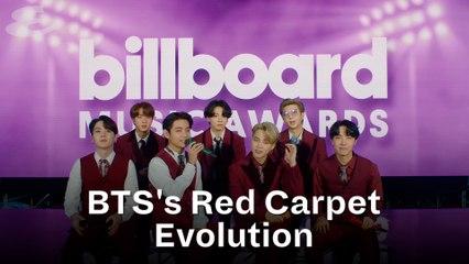 BTS Red Carpet Evolution
