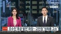 조수진 '후궁 발언' 파장…고민정