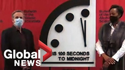 Doomsday clock remains at 100 seconds to midnight, scientists warn