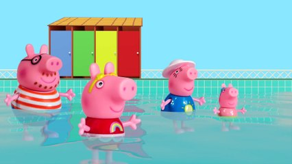 Peppa Pig Game - Crocodile Hiding in Peppa Pig Toys - Peppa Pig Swimming Fun Playset