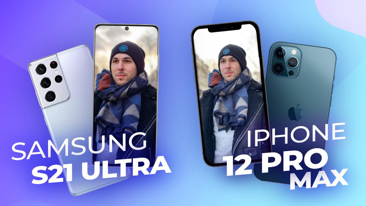 Samsung Galaxy S21 Ultra vs iPhone 12 Pro Max ! Le MEILLEUR en PHOTO est…