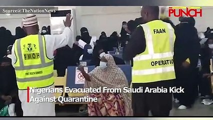 Nigerians Evacuated From Saudi Arabia Arrive Abuja Airport/Punch