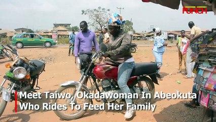 Meet Taiwo, Okadawoman In Abeokuta Who Rides To Feed Her Family