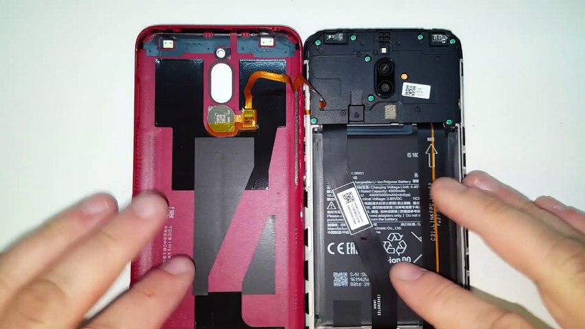 Xiaomi Redmi 8-Substituição e trocar tela lcd display. Desmontagem e Montagem corretas.