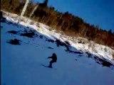 Petite descente en snowboard