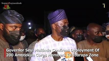 Governor Seyi Makinde Deploys 200 Amotekun Corps Members To Ibarapa Zone