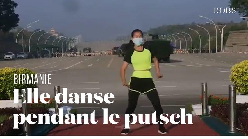 En plein putsch en Birmanie, cette professeure d'aérobic continue sa séance de sport