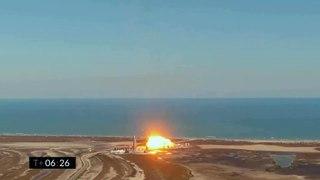 Un fallo de motor hace estallar el cohete Starship de Space X