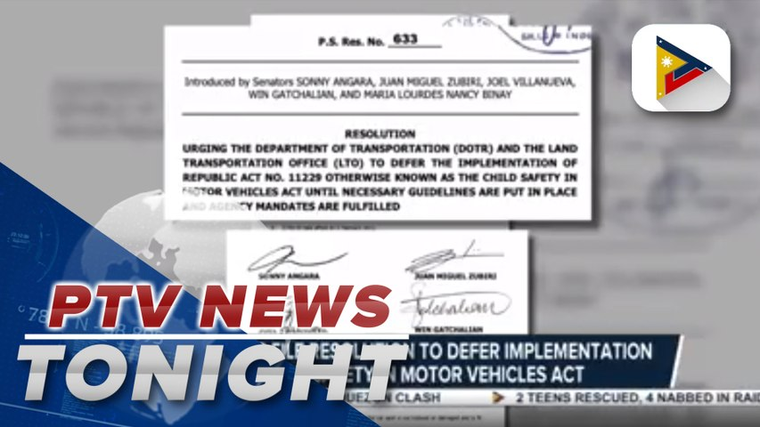Lawmakers file resolution to defer implementation of Child Safety in Motor Vehicles Act