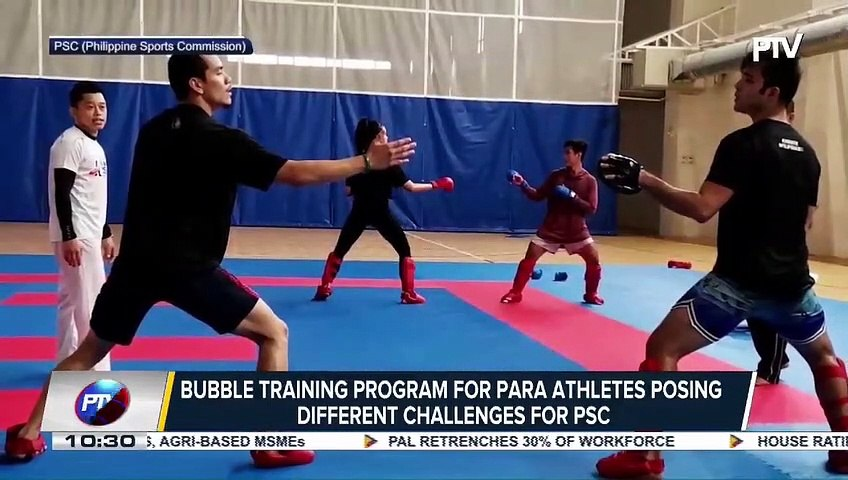 SPORTS NEWS: Bubble training program for para athletes posing different challenges for PSC