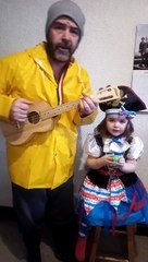 Russ and his daughter Daisy's sea shanty