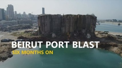Beirut port six months after the explosion