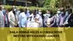 Raila Odinga holds a consultative meeting with Kajiado leaders