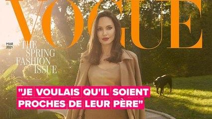 Angelina Jolie fait allusion à la coparentalité avec Brad Pitt dans une interview de Vogue UK