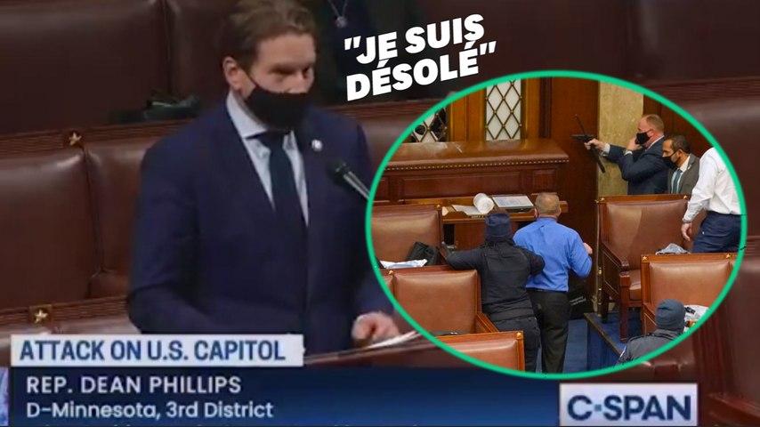 """Ému, ce représentant américain raconte que l'assaut du Capitole lui a fait comprendre son """"privilège"""" d'être blanc"""