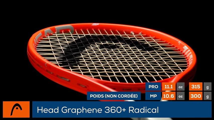 Tennis Test Matériel - On a testé pour vous la raquette de tennis Head Radical Graphene 360 + MP & PRO