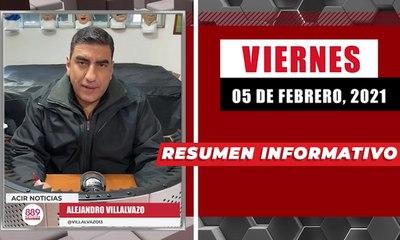 Resumen de noticias viernes 5 de febrero 2021 / Panorama Informativo / 88.9 Noticias