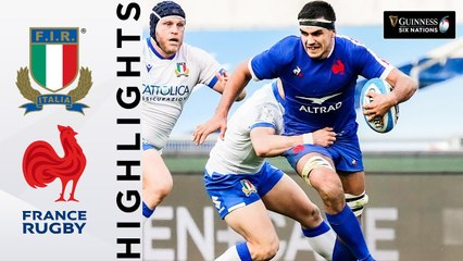 Italy v France - HIGHLIGHTS | Dupont Inspires Clinical France! | Guinness Six Nations 2021
