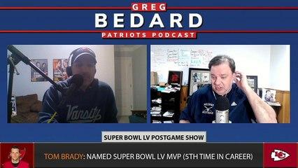 LIVE Betonline.ag Super Bowl Postgame | Greg Bedard Patriots Podcast