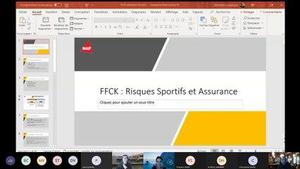Webinaire Responsabilité dirigeants et assurance - FFCK/MAIF