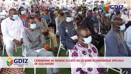 Cérémonie de la remise officielle du site de la Zone Industrielle de Glo Djigbe