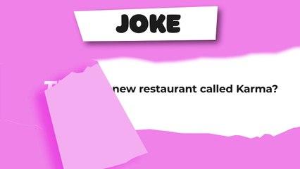 Joke : The new restaurant