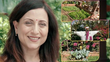 किशोरी शहाणेने दिला तिच्या Farmhouse च्या Vegetable गार्डनचा टूर