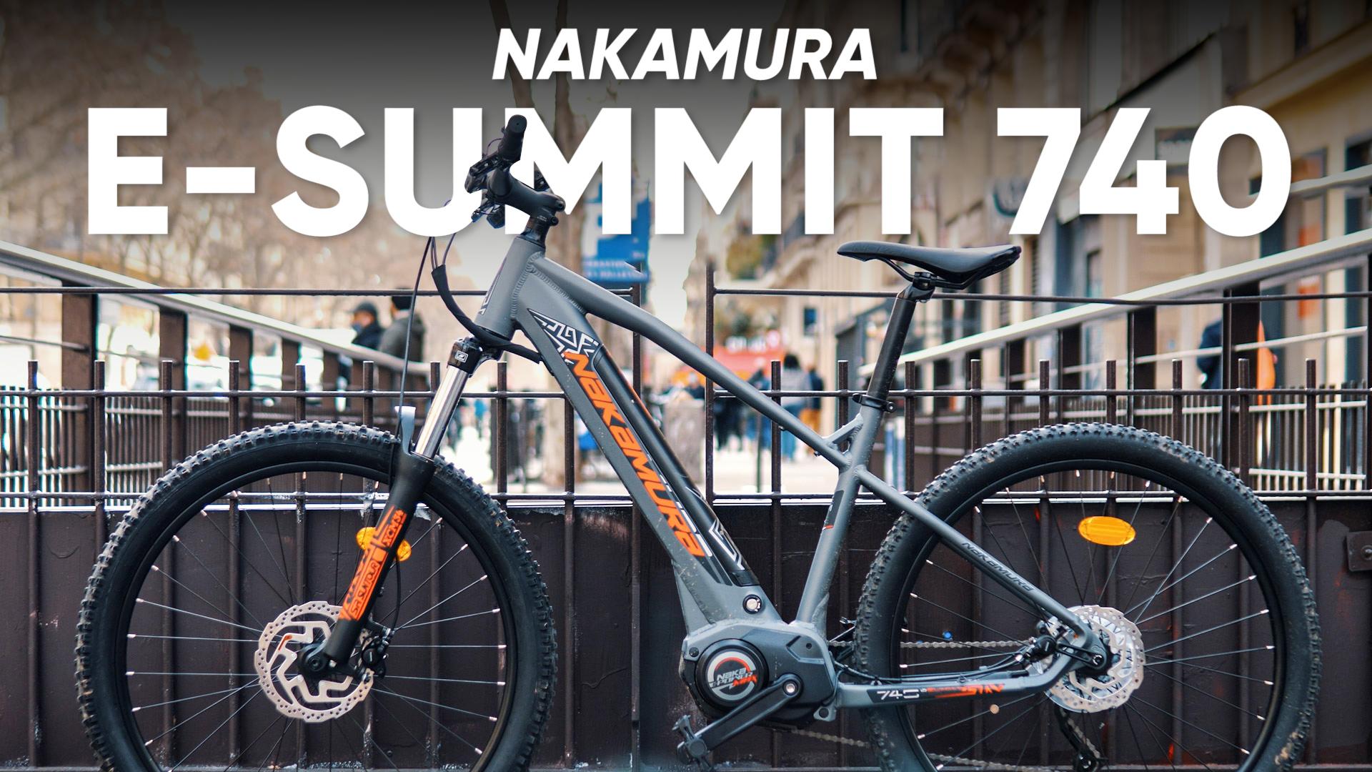 Test du Nakamura E-Summit 740 : un bon VTT s'en sort-il en ville ?
