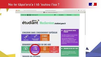 Tutoriel: Bourses de l'État (Tahitien)