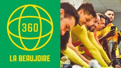 Vidéo 360° : la joie du vestiaire nantais à Angers
