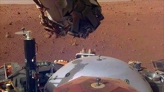 El polvo y el invierno reducen las operaciones de Insight en Marte